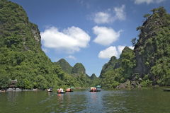 Boats on a river in Vietnam Royalty Free Stock Photo