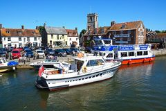 Boats on the river, Wareham. Stock Images