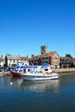 Boats on the river, Wareham. Stock Photography
