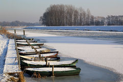 Boats in the Oude IJssel Royalty Free Stock Photos