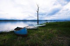 Boats riverside Stock Photo