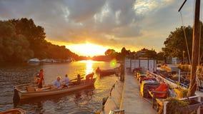 Richmond riverside sunset Stock Images