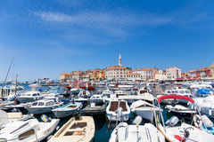 Boats in Rovinj, Croatia Royalty Free Stock Image
