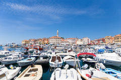 Boats in Rovinj, Croatia Royalty Free Stock Images