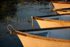 Boats in a row Royalty Free Stock Photo
