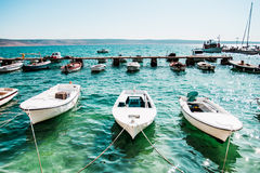 Boats. Row of boats moored in harbor Stock Photography