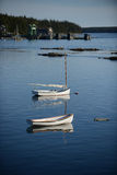 Boats in Rural fishing village Royalty Free Stock Images
