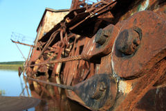 Boats rusting bolts Stock Image