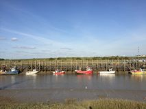 Boats rye harbour summer East Sussex Royalty Free Stock Photography