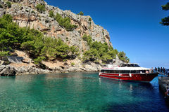 Boats in Sa Calobra Stock Photography