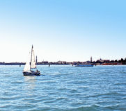 Boats sailing in the Gulf of Venice 5. Boats sailing in the Venetian Lagoon Stock Images