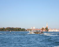 Boats sailing in the Gulf of Venice 7. Boats sailing in the Venetian Lagoon Royalty Free Stock Photography