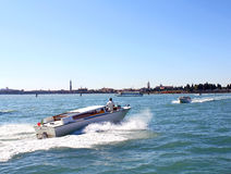 Boats sailing in the Gulf of Venice 8. Boats sailing in the Venetian Lagoon Stock Photo