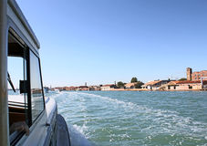 Boats sailing in the Gulf of Venice 5. Boats sailing in the Venetian Lagoon Royalty Free Stock Photos