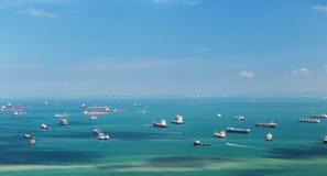 Boats sailing in ocean Royalty Free Stock Photos