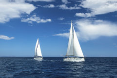 Boats in sailing regatta. Luxury. Royalty Free Stock Photography