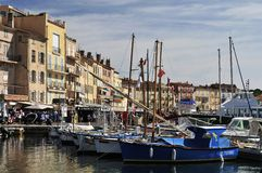 Boats in Saint Tropez Stock Photos