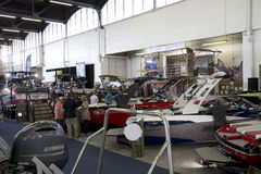 Boats for sale at Boat expo Dallas TX 2017 Stock Photos