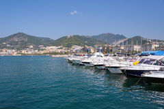 Boats in Salerno port Royalty Free Stock Image
