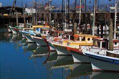 Anchored Sail Boats San Francisco Bay Royalty Free Stock Photo