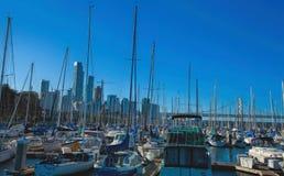 Boats in San Francisco Harbor Stock Image