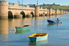 Boats in San Vicente de la Barquera Stock Images