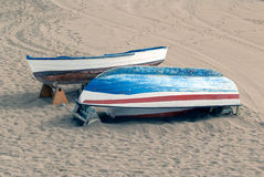 Boats on the sand Stock Image