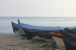 Boats on the sand Royalty Free Stock Images