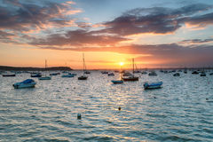 Boats at Sandbanks in Poole Harbour Royalty Free Stock Images
