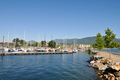 Boats on Sandpoint, Idaho, Lake Pend Oreille Royalty Free Stock Photos