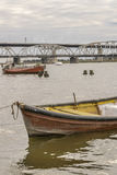 Boats at Santa Lucia River in Montevideo Uruguay Stock Photography