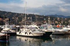 Boats at Santa Margherita Ligure, Italy. Stock Images