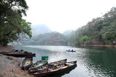 Boats in Sattal lake Stock Image