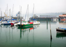 Boats Scarborough harbour Stock Image