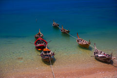 Boats on the Sea Royalty Free Stock Images