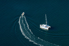 Boats in the sea stock photos