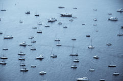 Boats At Sea Royalty Free Stock Photos
