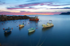 Boats on the sea Royalty Free Stock Photos