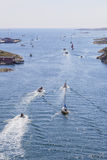 Boats on sea Stock Image