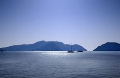 Boats on the sea Stock Photo