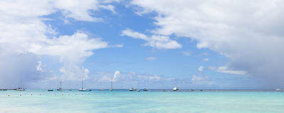 Boats and sea in barbados Royalty Free Stock Image