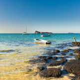 Boats in a sea Royalty Free Stock Images