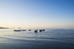 Boats on sea stock photography