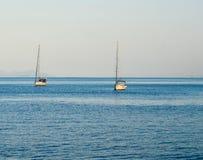 Boats in Garitsa Bay, Corfu, Greece Stock Photography