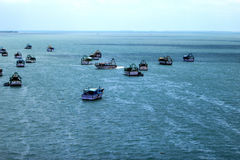 Boats and the SEA. Boats are getting ready to go fishing Royalty Free Stock Image
