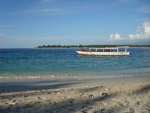 Boats in the sea at Gili Trawangan Stock Images
