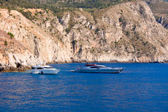 Boats on the sea, Kefalonia Royalty Free Stock Images
