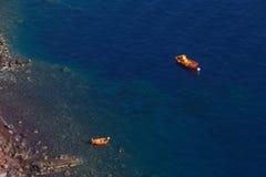 Boats in sea near Santorini Stock Photography