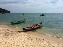 Boats on the sea in Phu Quoc island, Vietnam Royalty Free Stock Image