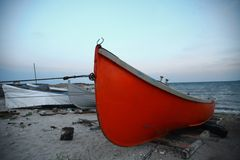 Boats by the sea Royalty Free Stock Image